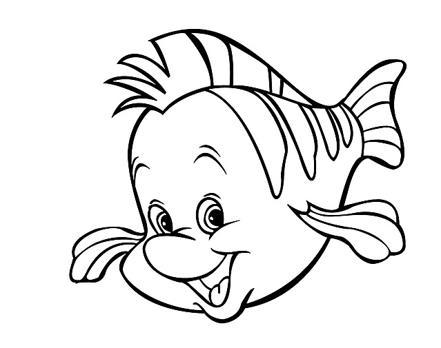 Il pesce de la sirenetta da colorare wallpapers for Disegni da stampare gratis disney