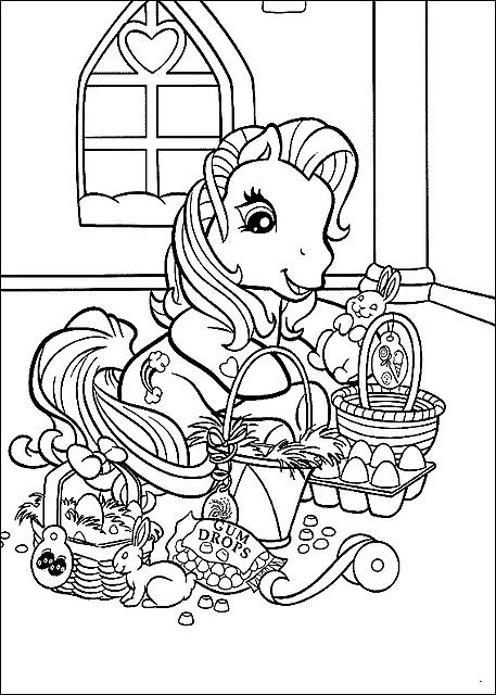 Disegni da colorare my little pony con uova di pasqua - Pony da colorare in immagini ...