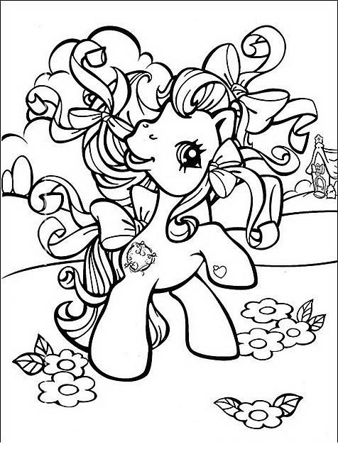 disegno da colorare my little pony con fiocchi wallpapers ...