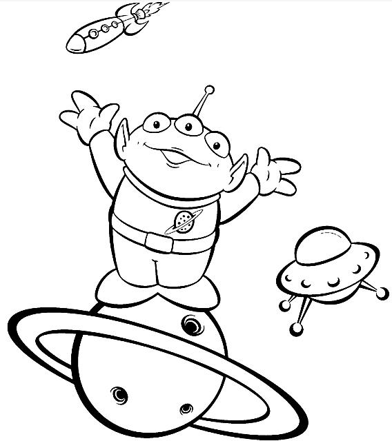 Toy Story Alieno Da Colorare Disegni Da Colorare Categoria Toy
