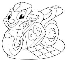 Disegni Da Colorare Per Bambini Moto Cartone Bimbi Disegni Da