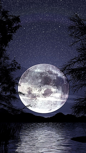 Luna E Cielo Stellato Sul Mare Wallpaper Disegni Da Colorare