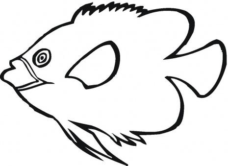 Pesce angelo affamato da stampare e da colorare disegni da for Pesci da stampare e colorare