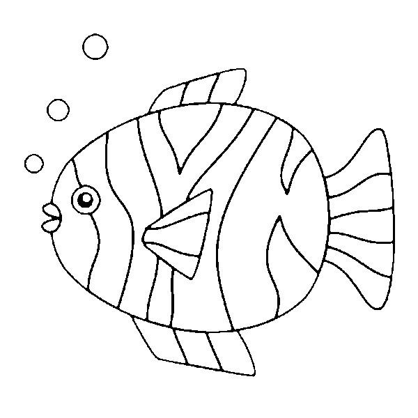 Pesciolino tondo da colorare gratis disegni da colorare for Immagini di pesci da disegnare
