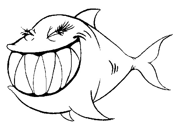 Squalo femmina disegno da colorare disegni da colorare for Immagini di pesci da disegnare