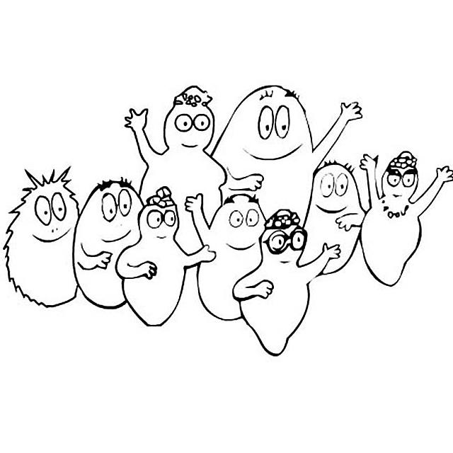 Barbapapa famiglia saluta disegni da colorare categoria barbapap punto - Barbe a papa dessin anime ...