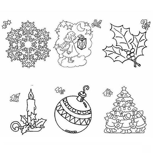 Natale Disegno Da Colorare.Simboli Di Natale Disegno Di Natale Da Colorare Disegni Da