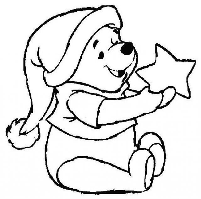 Winnie The Pooh Con Stella Disegni Da Colorare Categoria Natale