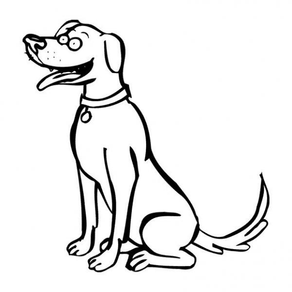 Cagnolino disegno da colorare online disegni da colorare for Immagini di cani da colorare