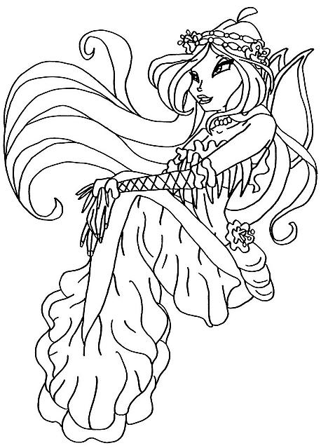 Immagini da colorare fata winx principessa disegni da - Fata immagine da colorare ...