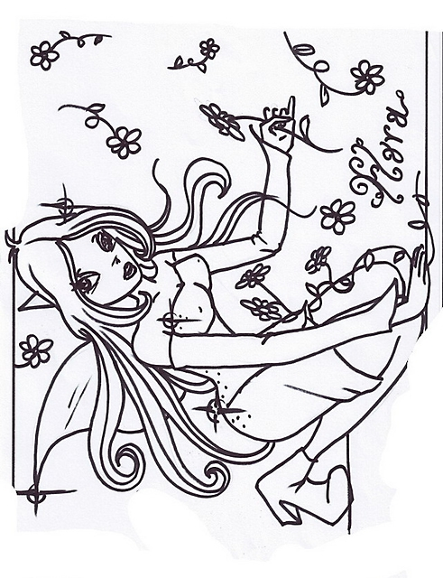 Immagini Da Colorare Winx Flora Con Fiori Disegni Da