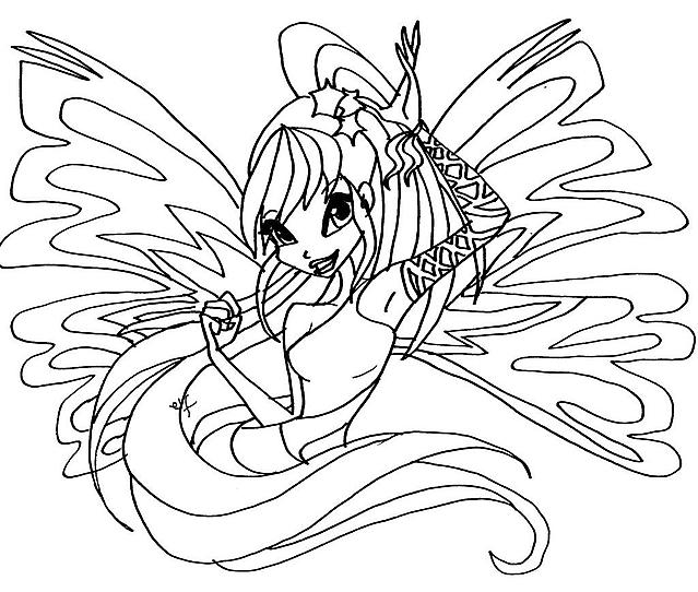 immagini da colorare winx stella sirenix disegni da