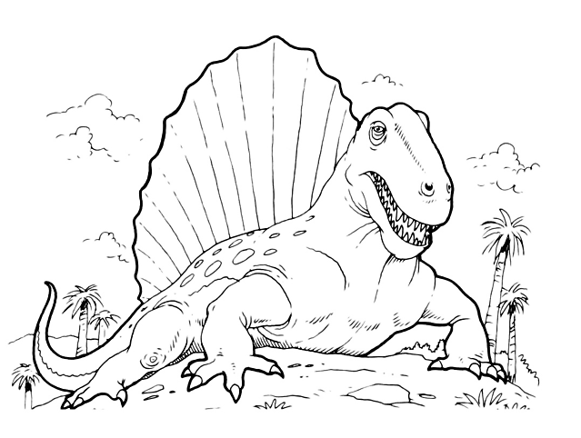 Grande dinosauro da stampare e colorare disegni da - Stampa pagine da colorare dinosauro ...