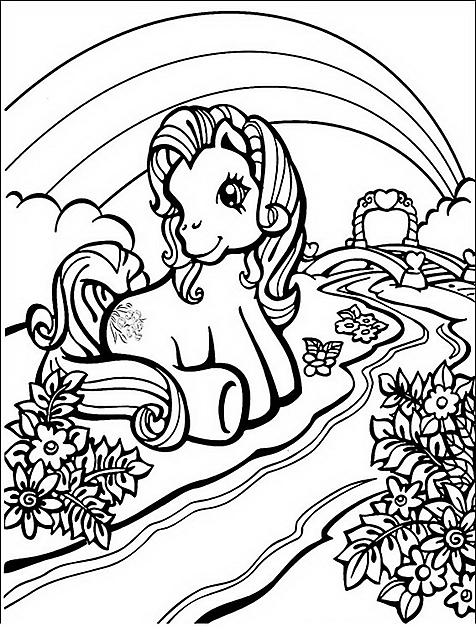 Disegno da colorare my little pony seduto disegni da - Pony da colorare in immagini ...