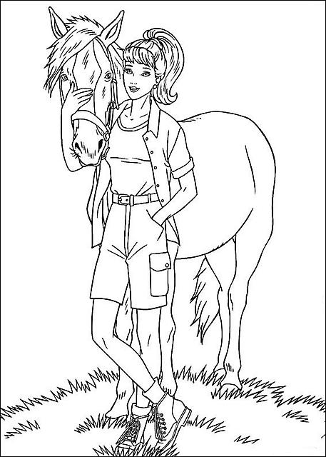 Disegni Da Colorare Barbie Con Cavallo Disegni Da Colorare