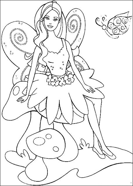 Disegni da colorare barbie fata farfalla disegni da - Fata immagine da colorare ...