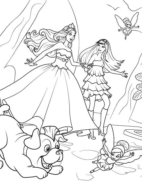 Disegni da colorare barbie mondo magico disegni da for Disegni barbie da colorare gratis
