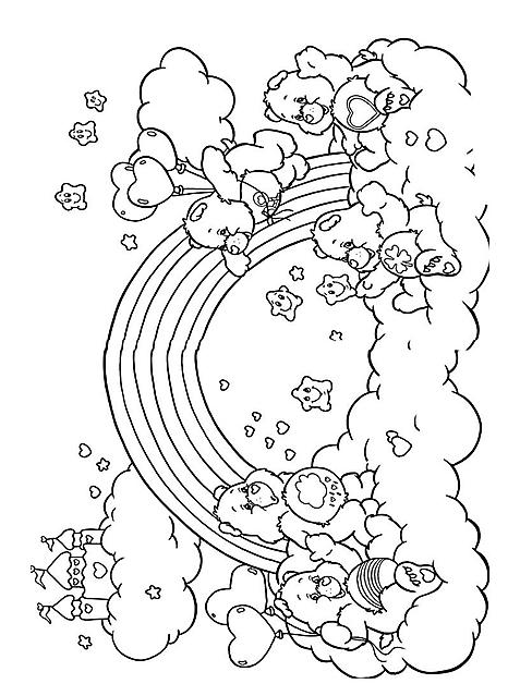 Disegni Per Bambini Colorare Orsetti Del Cuore Arcobaleno Disegni Da