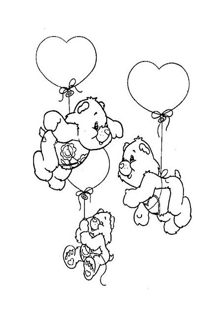 Disegni Per Bambini Orsetti Del Cuore Palloncini Disegni Da Colorare