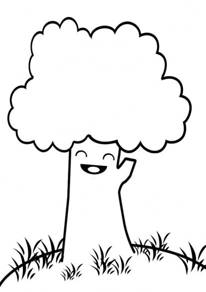 Albero sorridente disegni da colorare