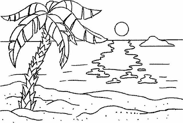 Spiaggia disegni da colorare disegni da colorare for Disegni da camera da spiaggia