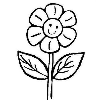 Margherita sorridente disegni da colorare disegni da for Fiori facili da disegnare