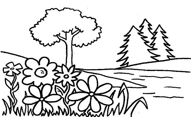 Fiume disegni da colorare disegni da colorare categoria for Disegni paesaggi da colorare