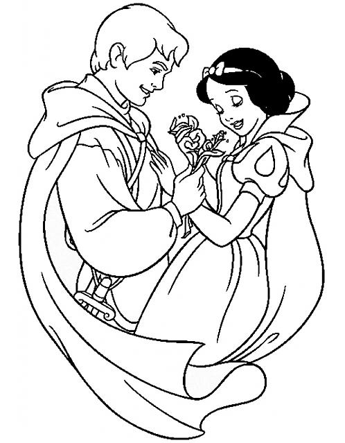 Disegni Da Colorare Biancaneve Principessa Disney Bellissima