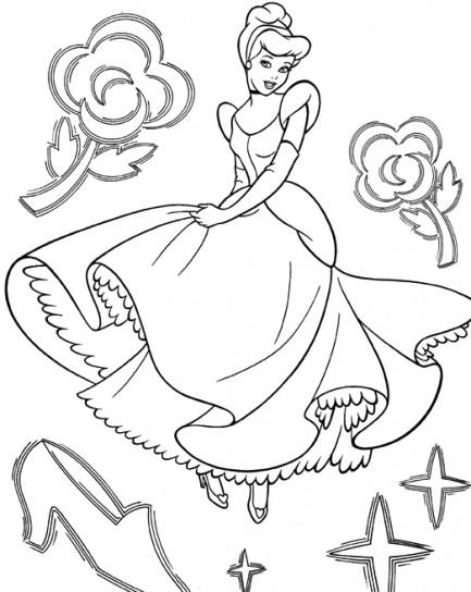Disegni Da Colorare Cenerentola Principessa Disney E