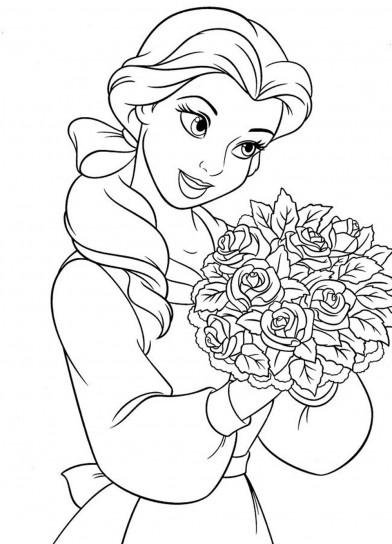 Disegni da colorare principessa disney belle con fiori - Belle pagine da colorare di natale da colorare ...