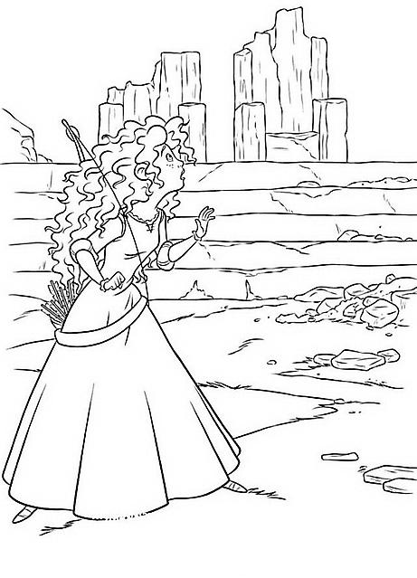 disegni per bambini da colorare merida ribelle the brave