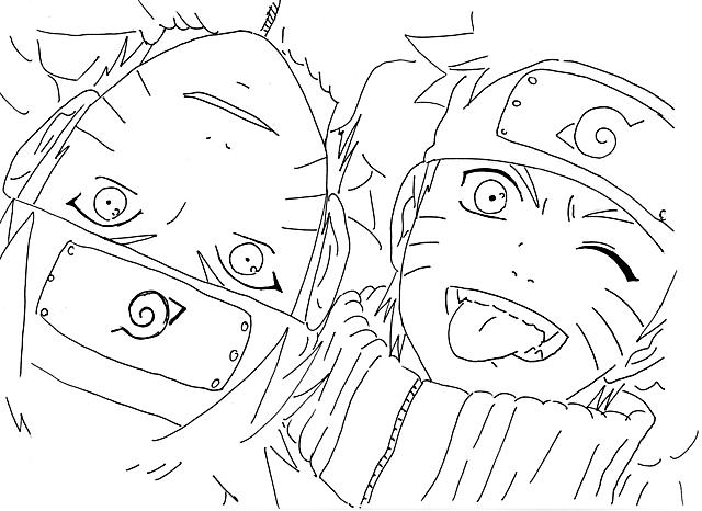 Naruto Bambino E Adulto Disegni Da Colorare Disegni Da Colorare