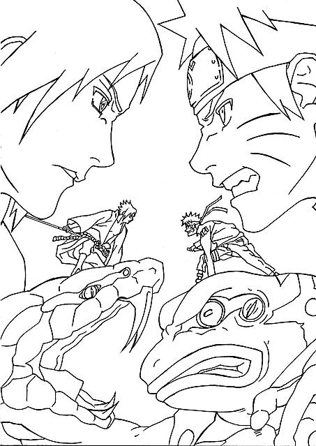 Naruto Contro Sasuke 4 Disegni Da Colorare Disegni Da Colorare