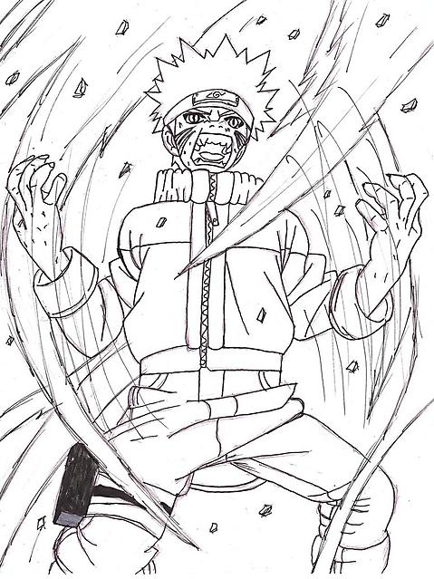 Naruto E La Furia Della Volpe Disegni Da Colorare Disegni Da