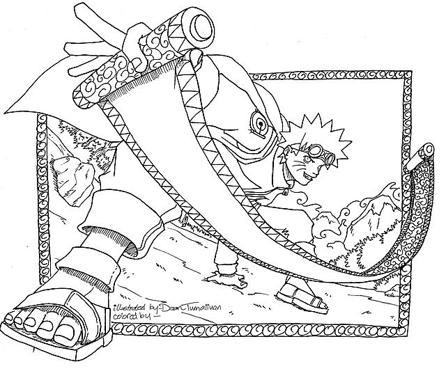 Naruto E La Pergamena Disegni Da Colorare Disegni Da Colorare