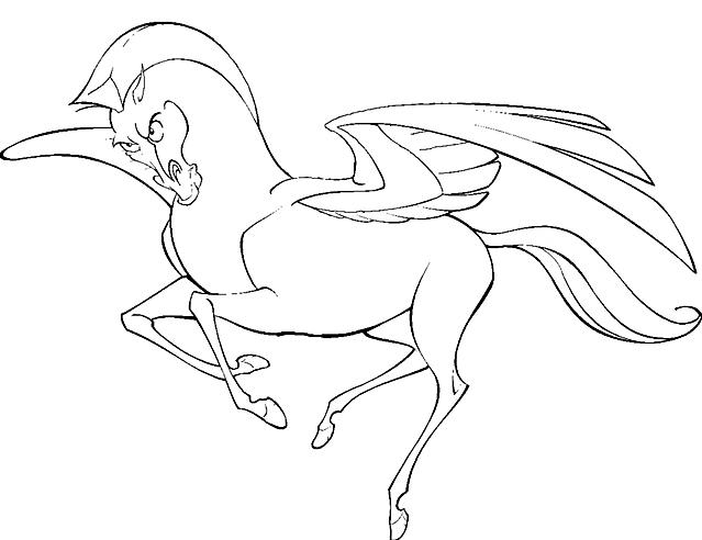 Pegaso Cavallo Alato Disegno.Disegni Da Colorare Pegaso Cavallo Alato Di Hercules Disegni