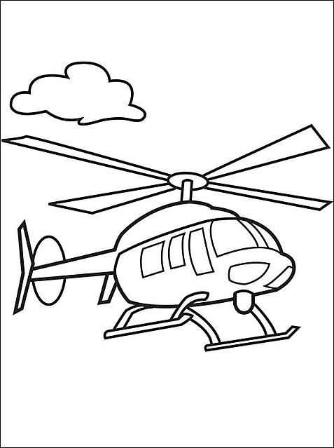 Elicottero E Una Nuvola Da Colorare Disegni Da Colorare