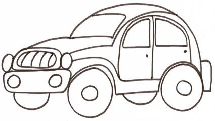 Disegni da colorare macchinina buffa disegni da colorare - Disegno di immagini di veicoli ...