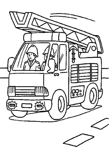 Disegni Da Colorare Camion Pompieri Disegni Da Colorare