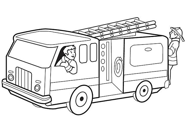Disegni Da Colorare Per Bambini Camion Pompiere Disegni Da