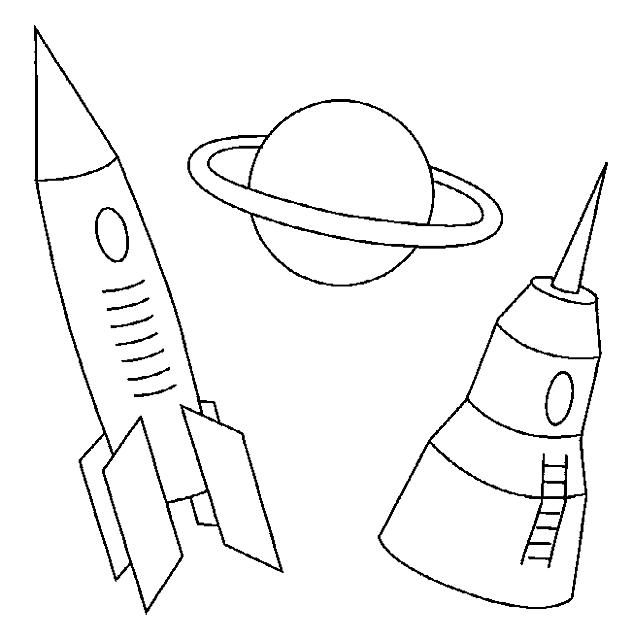 Disegni da colorare per bambini navicelle spaziali disegni for Le navicelle spaziali