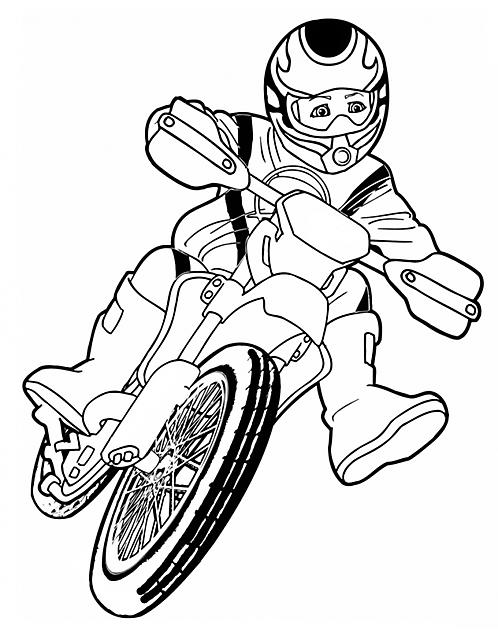 disegni da colorare per bambini motocross disegni da