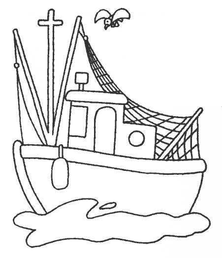 disegni da colorare per bambini nave pescatori disegni da
