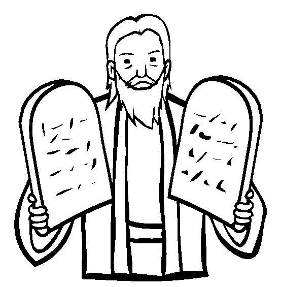 Facile disegno da colorare mos e i dieci comandamenti for Aggiunte alla legge