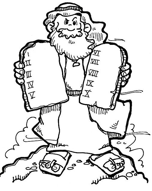 Mos e i dieci comandamenti immagini da colorare per - Le tavole della legge ...