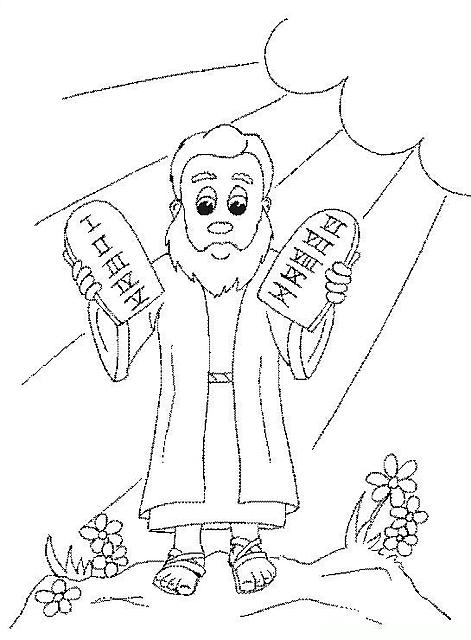 Mos e le tavole dei dieci comandamenti catechismo disegni da colorare categoria mos dieci - Tavole dei dieci comandamenti ...