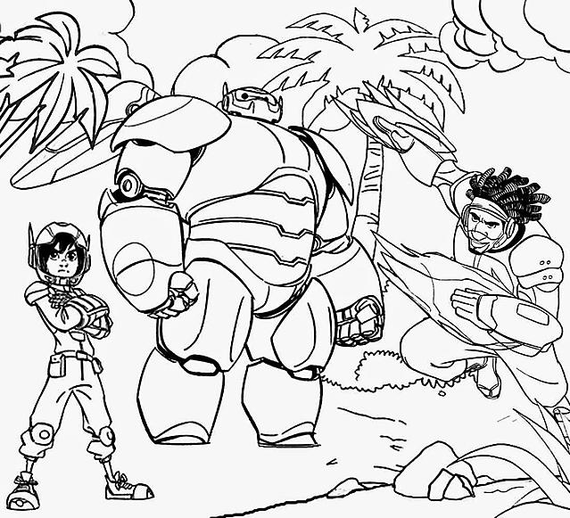 Hiro Baymax E Wasabi Disegno Da Colorare Big Hero 6 Disegni Da